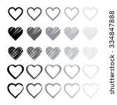 rainbow heart shape love vector ... | Shutterstock .eps vector #334847888