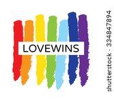 rainbow heart shape love vector ... | Shutterstock .eps vector #334847894