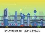 website hero image in flat... | Shutterstock .eps vector #334859633