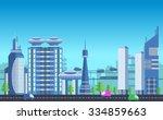 website hero image in flat... | Shutterstock .eps vector #334859663