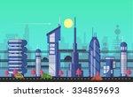website hero image in flat... | Shutterstock .eps vector #334859693