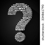question and solutions icon... | Shutterstock .eps vector #334861790