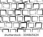 seamless pattern. monochrome...   Shutterstock .eps vector #334865624