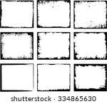 grunge frame set. vector... | Shutterstock .eps vector #334865630