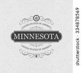 minnesota  usa state.vintage... | Shutterstock .eps vector #334878569