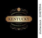 kentucky  usa state.vintage... | Shutterstock .eps vector #334878944