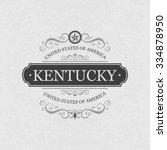 kentucky  usa state.vintage... | Shutterstock .eps vector #334878950