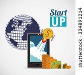 financial start up design ... | Shutterstock .eps vector #334891214
