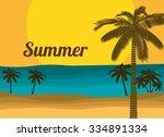 summer vacations design  vector ... | Shutterstock .eps vector #334891334