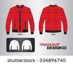 red plaid tracksuit design... | Shutterstock .eps vector #334896740
