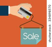 buying products design  vector... | Shutterstock .eps vector #334898570