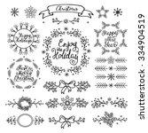 christmas handdrawn design...   Shutterstock .eps vector #334904519