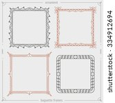 styled ornate vector frames... | Shutterstock .eps vector #334912694