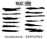 set of grunge and ink stroke... | Shutterstock .eps vector #334913963