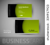 business card template with... | Shutterstock .eps vector #334917923