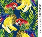 tropical background. seamless... | Shutterstock . vector #334918508