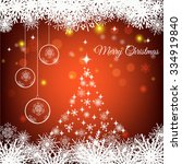 merry christmas and happy new... | Shutterstock .eps vector #334919840