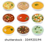 collection of soups soup in... | Shutterstock . vector #334920194