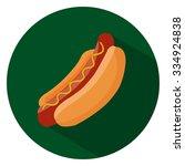 hot dog sandwich flat icon | Shutterstock .eps vector #334924838