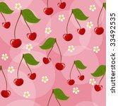 seamless cherry background | Shutterstock .eps vector #33492535