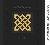 geometric emblem. vector arabic ... | Shutterstock .eps vector #334925708