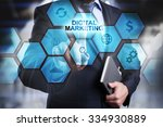 digital marketing concept man...   Shutterstock . vector #334930889