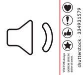 volume low sign  vector design...   Shutterstock .eps vector #334931579