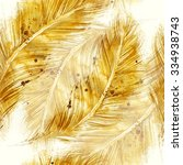 watercolor feathers fantastic... | Shutterstock . vector #334938743