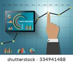 comparing statistics in... | Shutterstock .eps vector #334941488