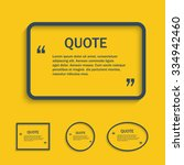 quote line text box  vector... | Shutterstock .eps vector #334942460