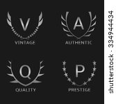 silver business logo set.... | Shutterstock .eps vector #334944434