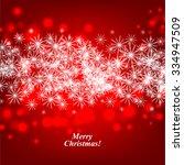 christmas glowing lights. merry ... | Shutterstock .eps vector #334947509