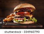 Delicious Hamburger Served On...