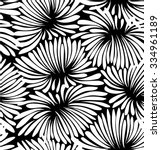 Abstract Black And White Flora...