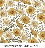 chamomile grass wildflowers.... | Shutterstock .eps vector #334962710