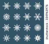 set of snowflakes. isolated on... | Shutterstock .eps vector #334963976