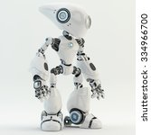 unusual long headed robotic... | Shutterstock . vector #334966700