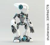 unusual long headed robotic... | Shutterstock . vector #334966778