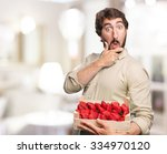 happy young man with... | Shutterstock . vector #334970120