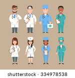 doctor character man and woman... | Shutterstock .eps vector #334978538
