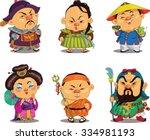 Cartoon. Vector. Funny Chinese...