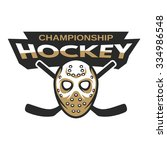 goalie mask hockey badge  logo  ...