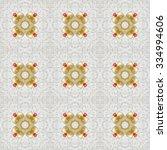 kaleidoscopic mosaic seamless... | Shutterstock . vector #334994606