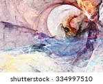 abstract color smoke. dynamic... | Shutterstock . vector #334997510