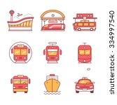 modern transportation and urban ... | Shutterstock .eps vector #334997540