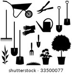 Gardening Items     Vector...