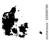 vector map denmark. isolated... | Shutterstock .eps vector #335000780