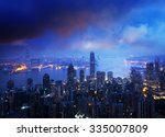 hong kong from the victoria peak | Shutterstock . vector #335007809