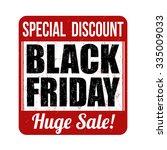 black friday grunge rubber... | Shutterstock .eps vector #335009033