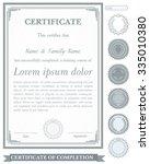 gray vertical certificate... | Shutterstock .eps vector #335010380